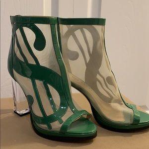 Katy Perry Cha-Ching  peep toe fashion booties